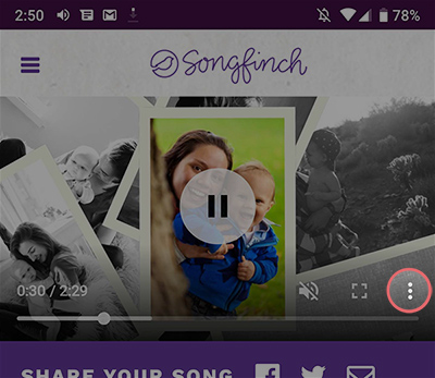 Download Songfinch Photo Slideshow On Android 1
